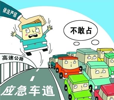 我国法律有关应急车道的使用规定